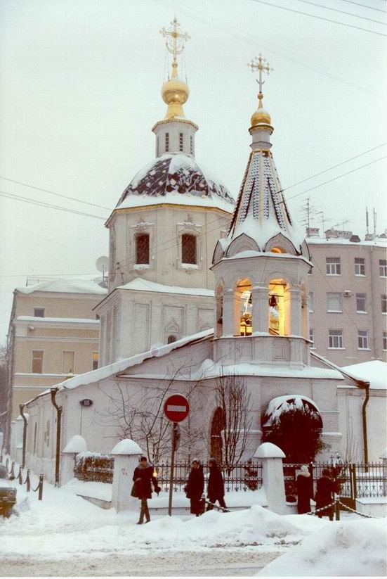 "photo ""Church at Nikitskaya street"" tags: architecture, landscape,"