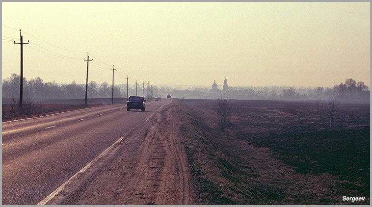 """photo """"Morning. Road. Spring."""" tags: landscape, misc., spring"""