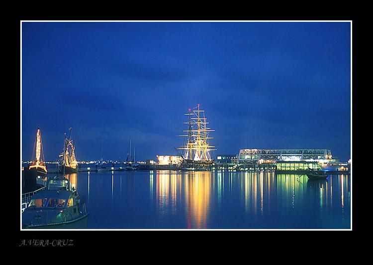 """фото """"East Lisbon by Night"""" метки: пейзаж, ночь"""