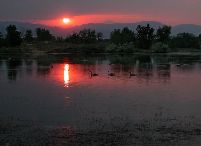 "фото ""Hot Sawhill Sunset"" метки: пейзаж, вода, закат"