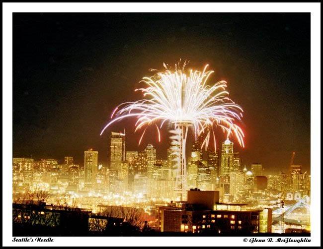 "фото ""Seattle`s Needle"" метки: архитектура, пейзаж, ночь"