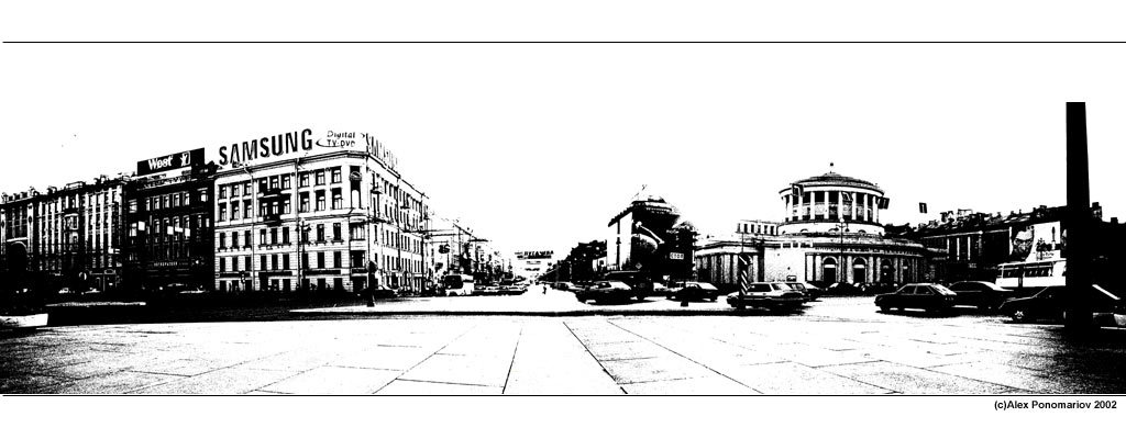 "photo ""Nevsky prospect 180 degrees"" tags: architecture, misc., landscape,"