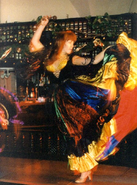 "photo ""Gypsy Dancer"" tags: portrait, montage, woman"