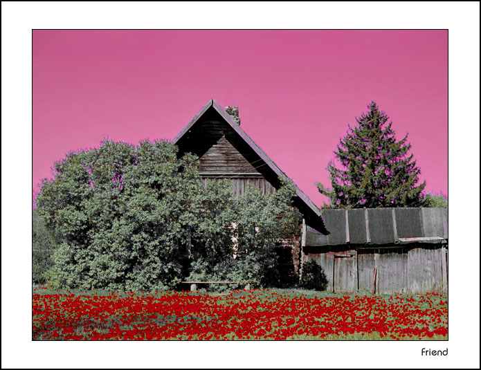 "photo ""A country house"" tags: landscape, summer"