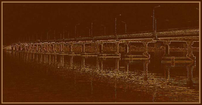 "photo ""Bridge.Reflection."" tags: architecture, landscape,"