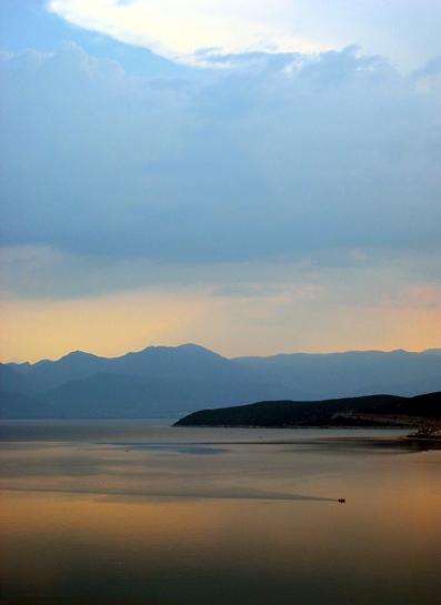 "photo ""sea, land, sky"" tags: landscape, travel, Europe, sunset"