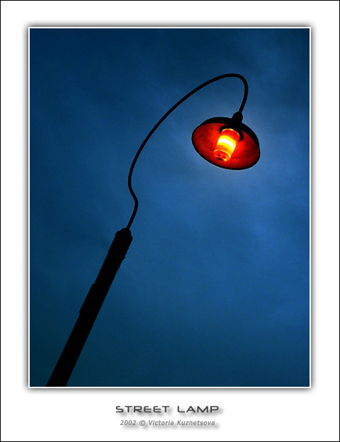 "photo ""Street lamp"" tags: landscape, night"