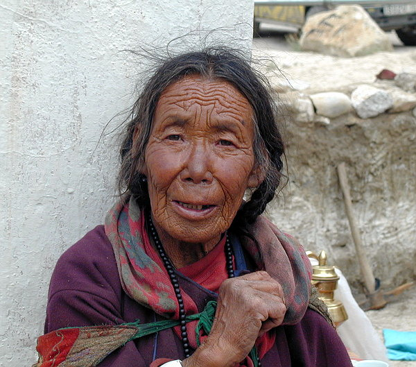 "photo ""LInes of the life...."" tags: portrait, travel, Asia, woman"