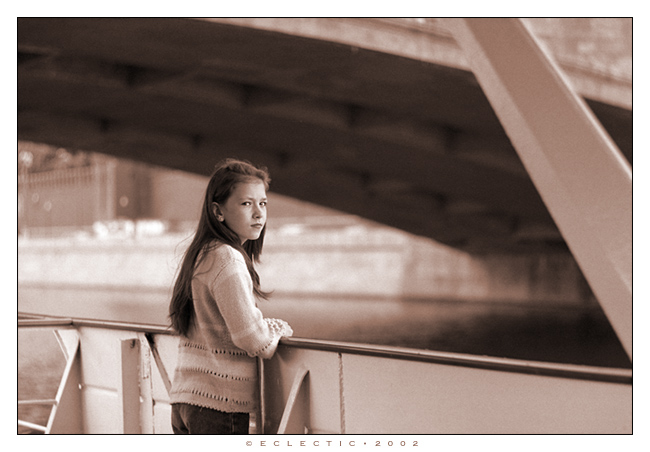 "photo ""Casual portrait II (walk on the Moscow river)"" tags: portrait, genre, woman"