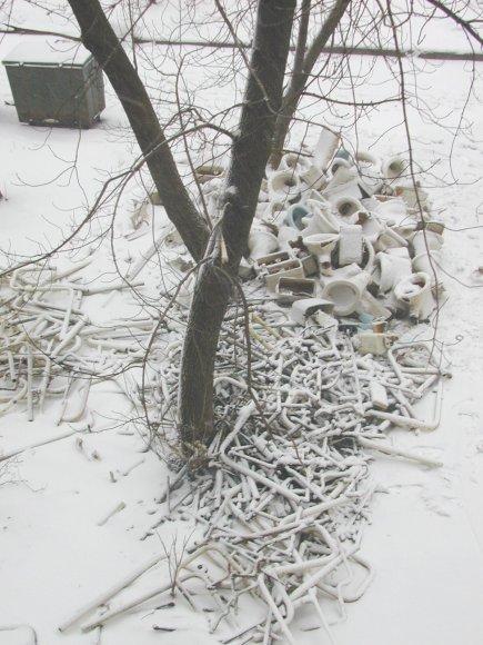 """photo """"Toilet Blizzard """"y"""""""" tags: architecture, montage, landscape,"""