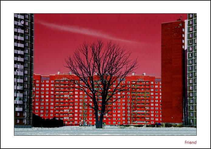 """фото """"Полуденный закат в городе"""" метки: разное, архитектура, пейзаж,"""
