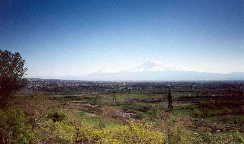 "photo ""Bible mountain from Ararat valleys"" tags: landscape, summer"