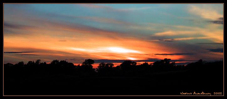 "photo ""banal photo on a banal theme"" tags: landscape, sunset"