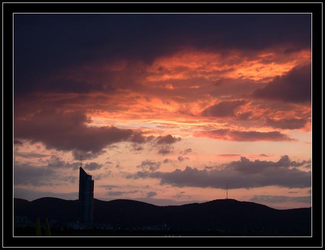 "фото ""Sunset in Vienna"" метки: путешествия, пейзаж, Европа, закат"