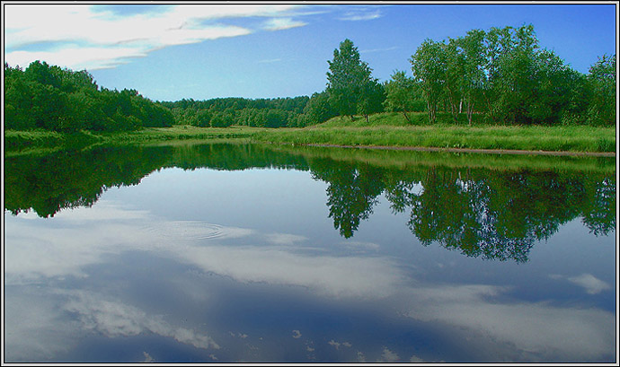 "photo ""Silent waters"" tags: landscape, summer, water"