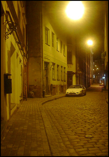 "photo ""Night in the Old City"" tags: architecture, landscape, night"