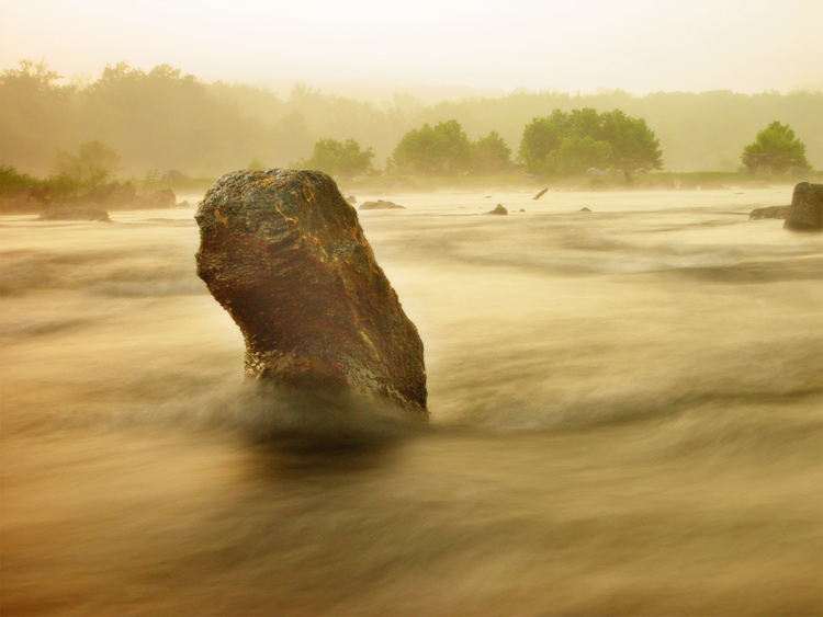 "фото ""Awakening Potomac"" метки: пейзаж, вода, закат"