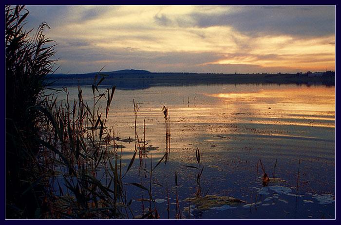 "фото ""На озере Тагарском"" метки: пейзаж, вода, закат"