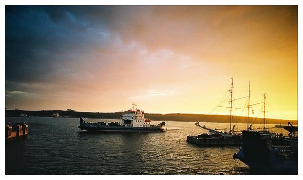 "фото ""Landscape with ferry"" метки: пейзаж, вода"
