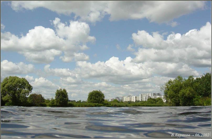 """фото """"Вид на Строгино из Москва-реки"""" метки: пейзаж, вода, лето"""