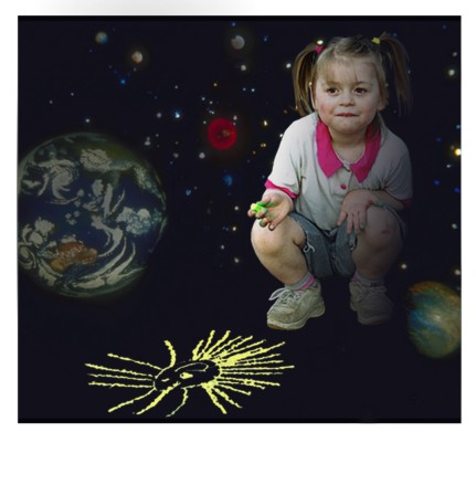 "photo ""... Birth of the Universe...."" tags: portrait, montage, children"