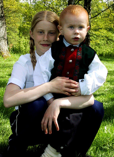 "photo ""eline and dennis"" tags: portrait, children"