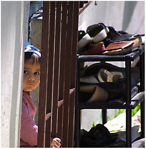 "photo ""In an imprisonment"" tags: portrait, misc., children"