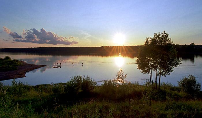 "фото ""Про тёплый вечер на холодной реке"" метки: пейзаж, вода, лето"