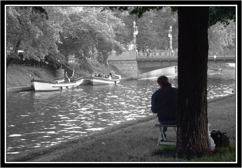 "photo ""Artist and his Subject"" tags: montage, architecture, landscape,"