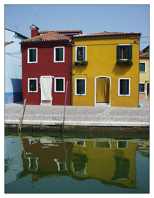 "фото ""Парочка из Бурано"" метки: путешествия, архитектура, пейзаж, Европа"