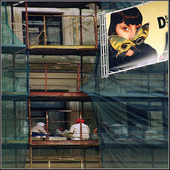 "фото ""На разных этажах"" метки: юмор, жанр,"