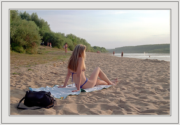 "photo ""Evening beach"" tags: travel, nude, Europe"