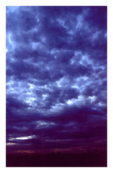 """photo """"Fauve"""" tags: landscape, clouds, sunset"""
