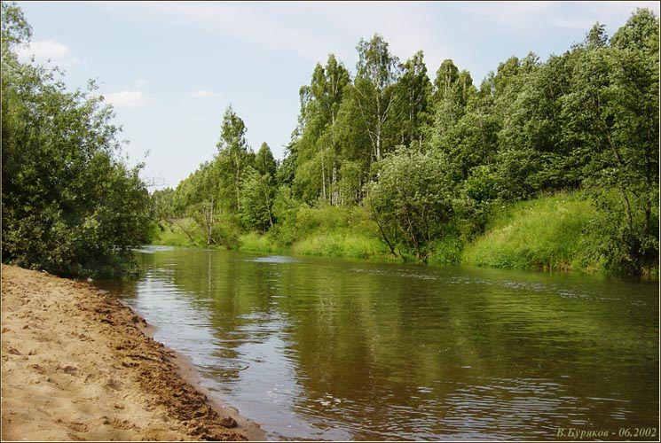 "photo ""The small river near Moscow"" tags: landscape, forest, water"