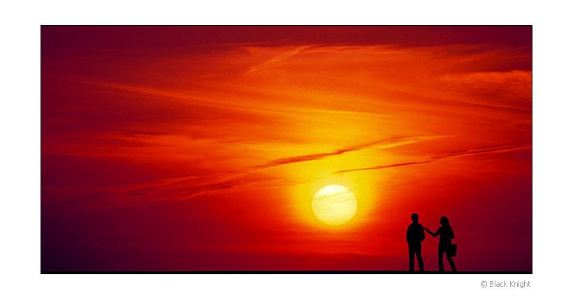 """фото """"Walk by the Sun"""" метки: пейзаж, портрет, закат"""