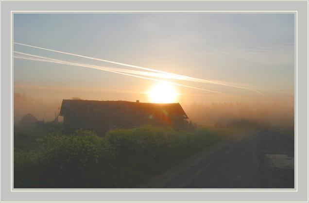 "фото ""Золотые нити"" метки: пейзаж, закат"