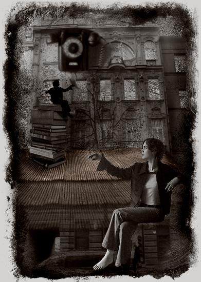 "фото ""Selfportrait and shadow."" метки: портрет, жанр,"