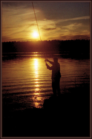"photo ""Evening biting of a fish"" tags: landscape, genre, sunset"