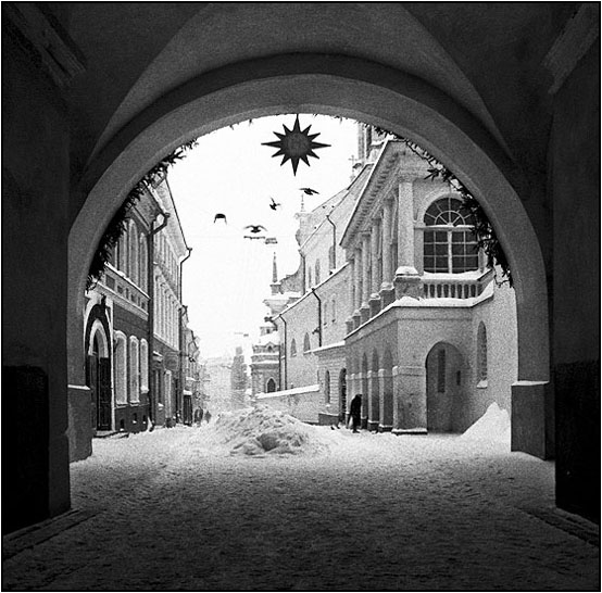 "фото ""Holly gates in Vilnius"" метки: архитектура, пейзаж, зима"