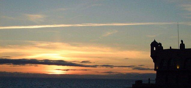"photo ""Sunset at West Portuguese Coast"" tags: landscape, sunset"