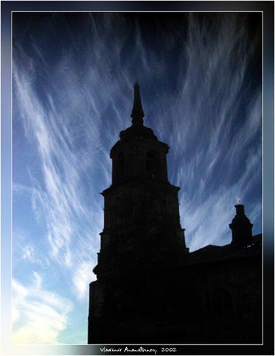 """фото """"старая церковь"""" метки: разное, пейзаж, облака"""