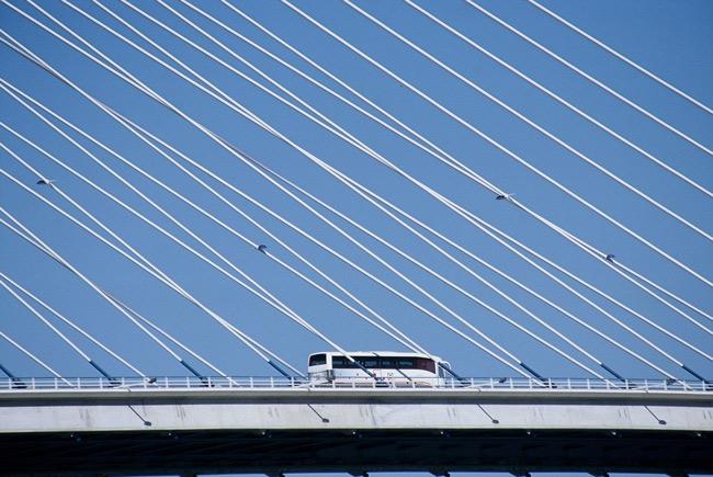 "photo ""Vasco Da Gama Bridge"" tags: architecture, landscape,"
