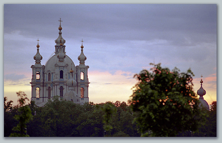 "photo ""Sunrises above Smolny"" tags: architecture, landscape, sunset"