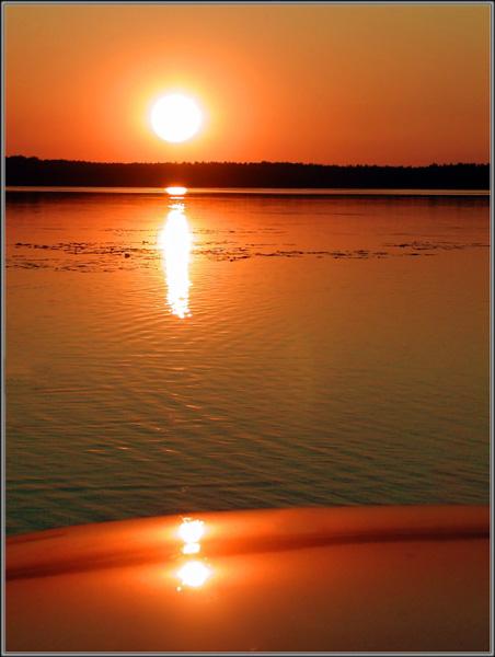 """фото """"Закат на озере-2"""" метки: пейзаж, вода, закат"""