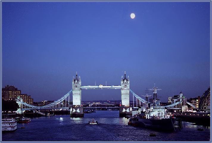"фото ""Tower bridge"" метки: путешествия, пейзаж, Европа, ночь"
