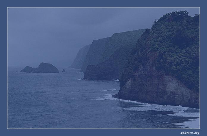 """фото """"Гавайская серия: Океанский дождь"""" метки: путешествия, пейзаж, Северная Америка, горы"""