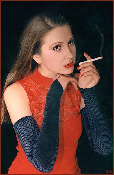 """фото """"АннА... Перекур между сьёмками, призадумалась...)"""" метки: портрет, жанр, женщина"""