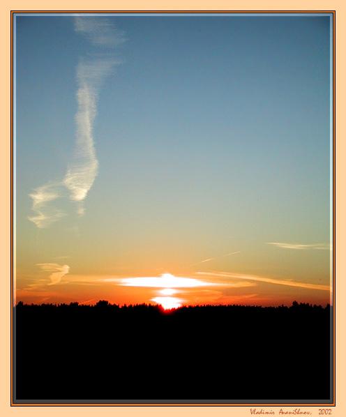 "фото ""росчерк"" метки: пейзаж, закат"