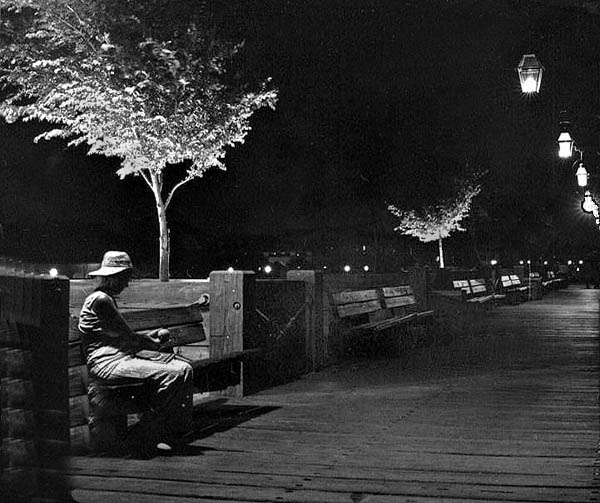 """фото """"Alone By The Mississippi"""" метки: путешествия, пейзаж, Северная Америка, ночь"""