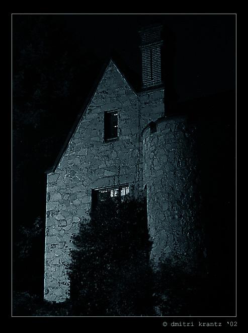 """фото """"The house by the Rock Creek."""" метки: архитектура, пейзаж, ночь"""
